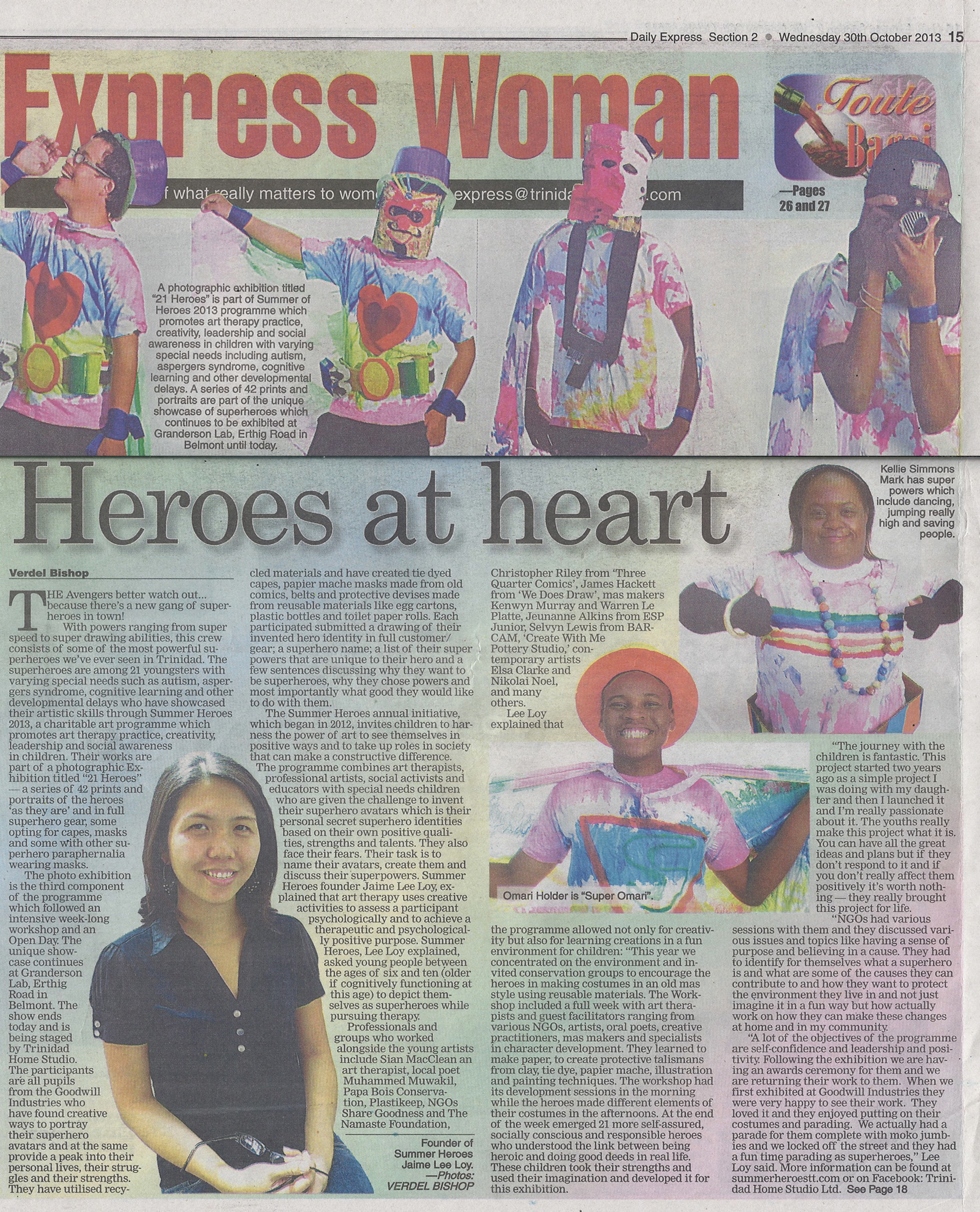 SH 2013 PRESS EXPRESS WOMAN Wednesday 30th October