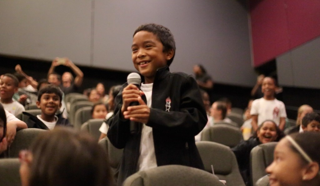 IMAX 2 MARIA REGINA STUDENT ASKS HEROES A QUESTION