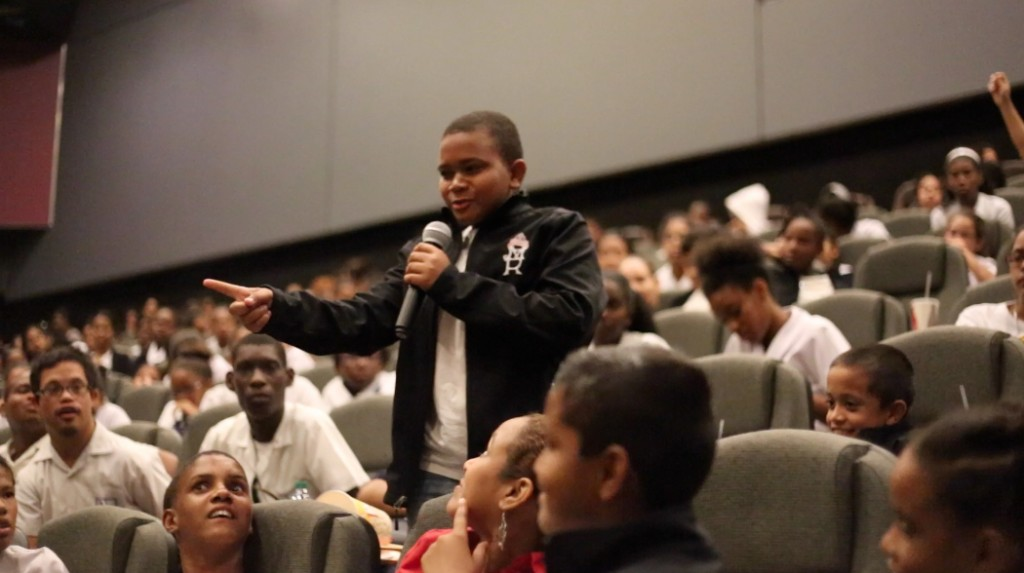 IMAX MARIA REGINA STUDENT ASKS HEROES A QUESTION