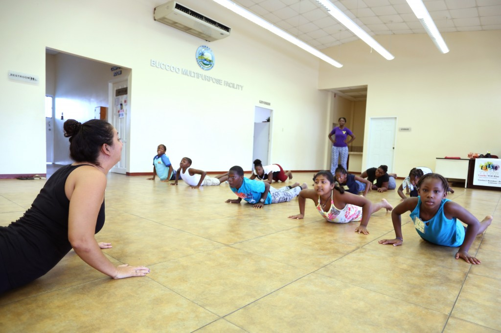Mindfulness coach Shana Bhajan with Tobago heroes